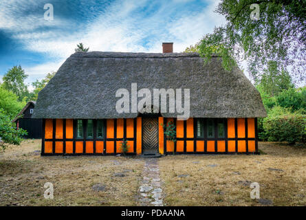 Denmark, Fredericia: Old half-timbered house in the eastern part of Jutland. - Stock Photo