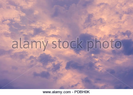 Threatening morning sky with nimbostratus and stratus fractus pannus clouds rain in the forcast - Stock Photo
