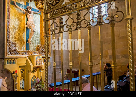 Santiago Cathedral, Old Town (Casco Viejo), Bilbao, Spain - Stock Photo