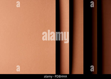 Abstract background with paper sheets in brown tones - Stock Photo