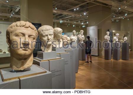 Roman portraiture imperial period sculpture at Royal Ontario Museum ROM in Toronto Ontario Canada - Stock Photo