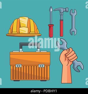 Set of construction tools - Stock Photo