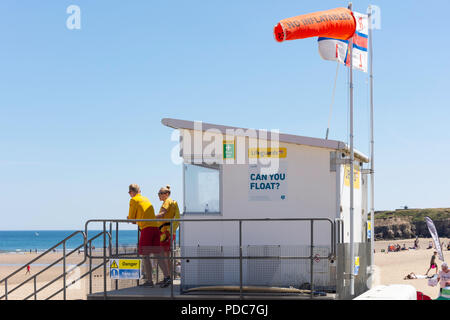 Lifeguard station on Sandhaven Beach, South Shields, Tyne and Wear, England, United Kingdom - Stock Photo