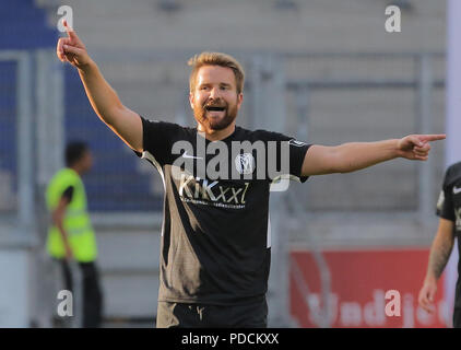 Duisburg, Germany. 08th Aug, 2018. Duisburg, Germany August 8 2018, 3rd league matchday 3, KFC Uerdingen 05 vs SV Meppen: Thilo Leugers (SVM) gestures. Credit: Juergen Schwarz/Alamy Live News - Stock Photo