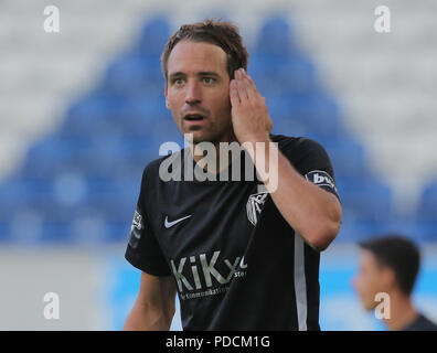 Duisburg, Germany. 08th Aug, 2018. Duisburg, Germany August 8 2018, 3rd league matchday 3, KFC Uerdingen 05 vs SV Meppen: Steffen Puttkammer (SVM) gestures. Credit: Juergen Schwarz/Alamy Live News - Stock Photo