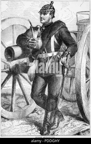 FRANCO-PRUSSIAN WAR 1870-1871. Prussian artillery soldier