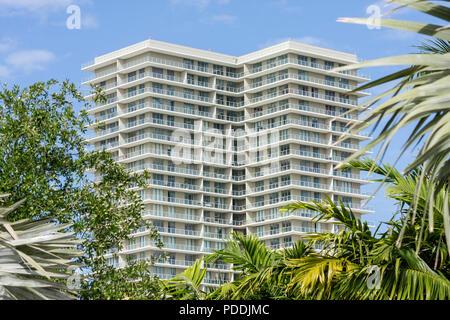 Miami Florida Shops at Midtown high-rise condominium building real estate bubble multi-family housing terrace balcony design - Stock Photo