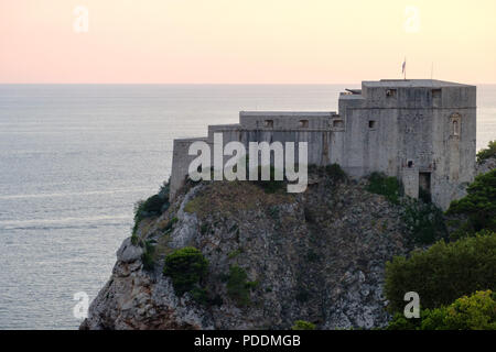 Fort Lovrijenac in Dubrovnik, Croatia, Europe - Stock Photo
