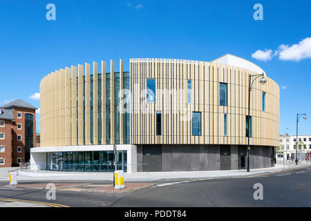 The Word, National Centre for the Written Word, Market Place, South Shields, Tyne and Wear, England, United Kingdom - Stock Photo