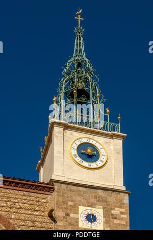 Cathedral Saint Jean Baptiste of Perpignan, Pyrénées-Orientales, Occitanie, France - Stock Photo