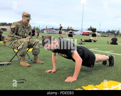 Us Army Soldiers Perform Push Ups During Physical Training At The