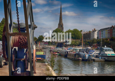 Bristol Docks on a summer's day - Stock Photo