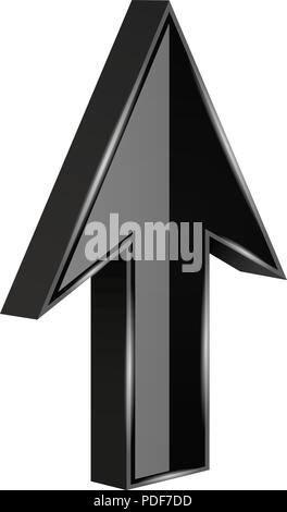3D Arrow Growth Up Concept  Infographic Template for