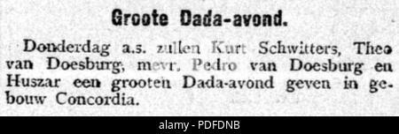 109 De Gooi- en Eemlander vol 052 no 030 Groote Dada-avond - Stock Photo