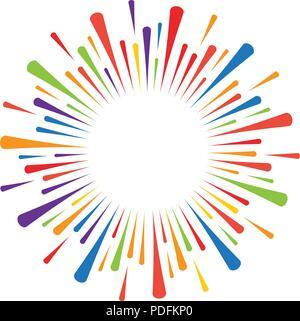firework burst rays. Vector illustration design template - Stock Photo