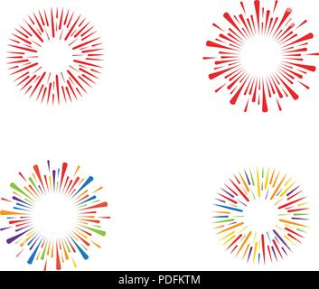 firework burst rays. Vector illustration design template - Stock Photo