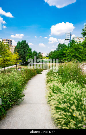 Parc Clichy Batignolles, also known as Martin Luther King Park is one of the new urban parks in Paris, France.