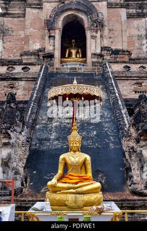 Wat Chedi Luang, Chiang Mai, Thailand - Stock Photo