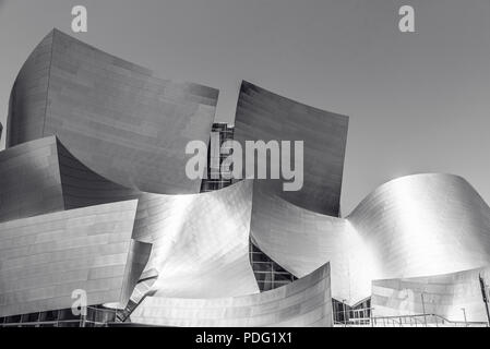 LOS ANGELES, California, USA - June 13, 2017: Walt Disney Concert Hall in downtown Los Angeles designed by Frank Gehry, home of the Los Angeles Philha - Stock Photo