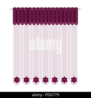 Curtains, single icon in cartoon style.Curtains vector symbol stock illustration . - Stock Photo