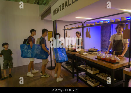 Visitors To An Ikea Pop Up Branding Event In Soho In New
