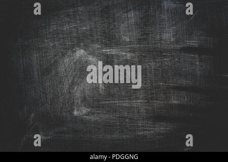 Dirty school blackboard surface as copy space grunge background - Stock Photo