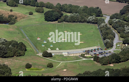 aerial view of the Express Golf Centre near Shipley, Bradford, West Yorkshire - Stock Photo