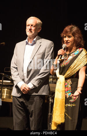 The Troxy, London, UK. 9th August 2018. Leader of the opposition attends the LUKAS Awards with his wife. Credit: Brayan Lopez/Alamy Live News - Stock Photo