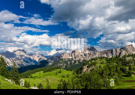 Dolomites mountains, North Italy. Scenic view in Dolomiti, Alto Adige, South Tirol - Stock Photo