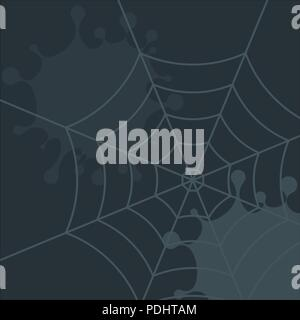 Dark gloomy background with dirt, blots and cobwebs - Stock Photo