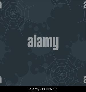Dark gloomy background with dirt, blots and cobwebs. - Stock Photo