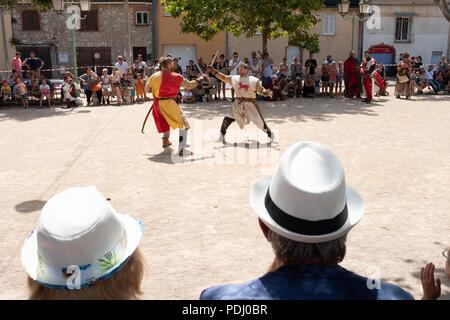 Medieval Festival in Saint-Cézaire-sur-Siagne, France - Stock Photo