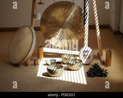 Sound healing instruments - Stock Photo
