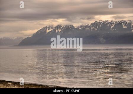 Geneva Lake, Lausanne, Switzerland. - Stock Photo