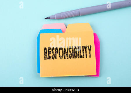 Responsibility, Business Concept - Stock Photo