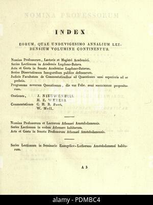 Annales Academiae Lugduno-Batavae - Stock Photo