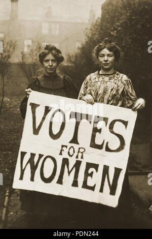 Annie Kenney and Christabel Pankhurst. - Stock Photo