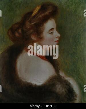 28 Pierre-Auguste Renoir - Portrait de Marthe Denis - Stock Photo