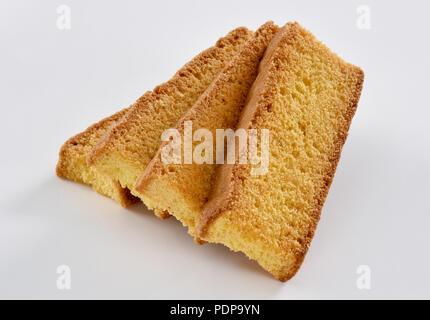 Cake Rusk, crunch bread sticks - Stock Photo