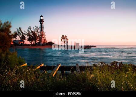 Lighthouse point, Hillsboro Inlet, Broward County, Florida - Stock Photo