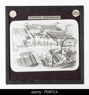 77 Lantern Slide - Tangyes Ltd, Cornwall Works Illustration, 1869 (2) - Stock Photo