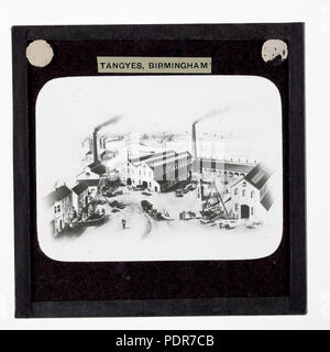 77 Lantern Slide - Tangyes Ltd, Cornwall Works Illustration, 1869 - Stock Photo