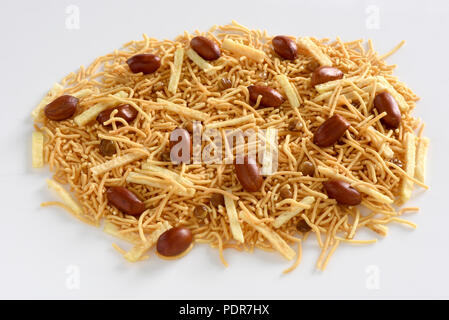 Lahori Style Nimco, a savoury and crispy blend of peanuts and sev - Stock Photo