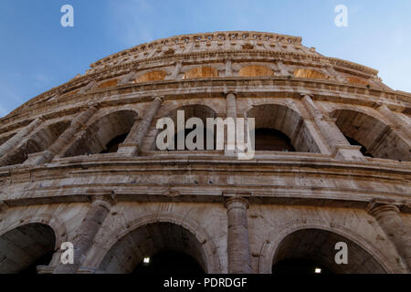 Colosseum of Rome at daylight, UNESCO World Heritage Site Rome, Rome, Italy - Stock Photo
