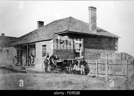 120 Queensland State Archives 5830 Brisbane General Hospital George Street Brisbane 1865 - Stock Photo