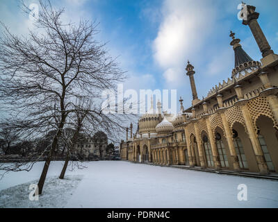 Royal Pavilion in winter - Stock Photo