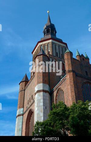 St.-Marienkirche, Stralsund, Mecklenburg-Vorpommern, Deutschland, Europa - Stock Photo