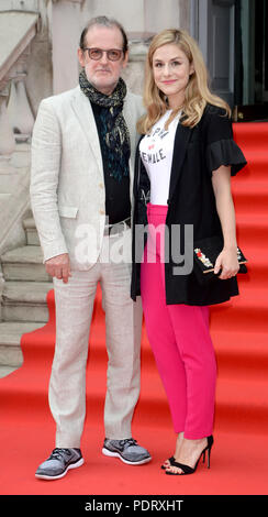 Photo Must Be Credited ©Alpha Press 078237 09/08/2018 Bjorn Runge and Alix Wilton Regan at The Wife Premiere held at Somerset House in London - Stock Photo
