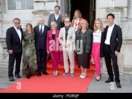 Photo Must Be Credited ©Alpha Press 078237 09/08/2018 Tim Haslam, Claudia Bluemhuber, Jonathan Pryce, Glenn Close, director Bjorn Runge, Lena Runge, Alix Wilton Regan, Piers Tempest and (back L-R) Director of Somerset House Jonathan Reekie, Sara Frain and Georgia A.A. Bayliff at The Wife Premiere held at Somerset House in London - Stock Photo