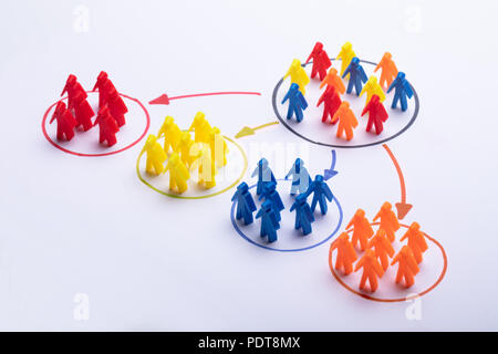 Choosing The Right Person From Colorful Team - Stock Photo